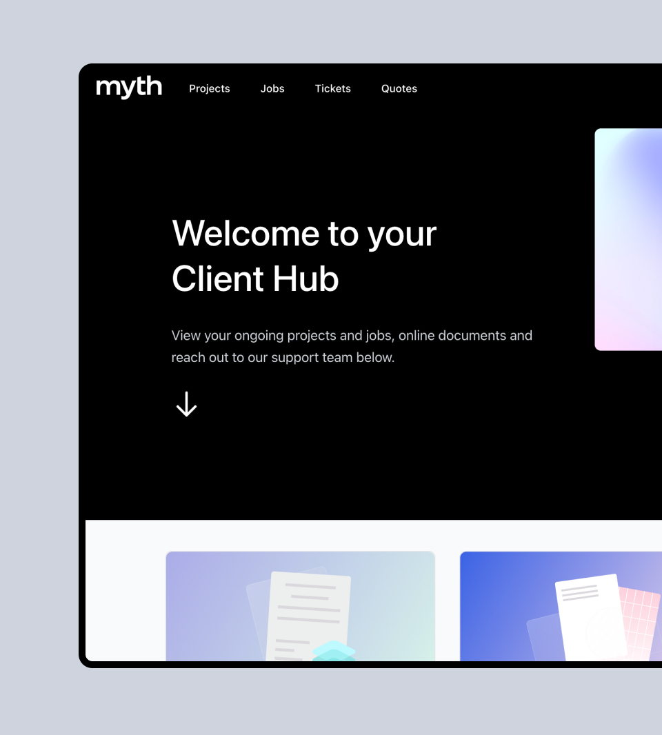 Why we built our own client hub software